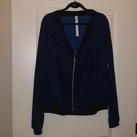 lululemon athletica Jackets & Blazers - Lululemon H'om Run Jacket Inkwell Rugged Blue 10